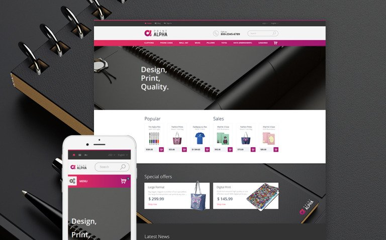 PrintAlpha - Design & Decor PrestaShop Theme New Screenshots BIG
