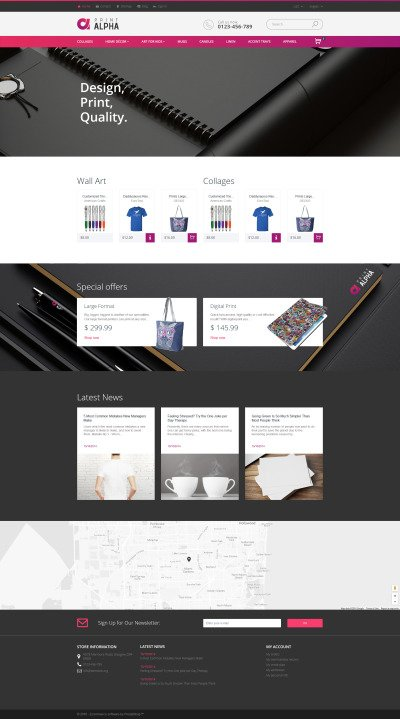 PrintAlpha - Design & Decor PrestaShop Theme