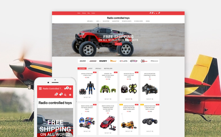 Radio Controlled Toys Responsive OpenCart Template New Screenshots BIG