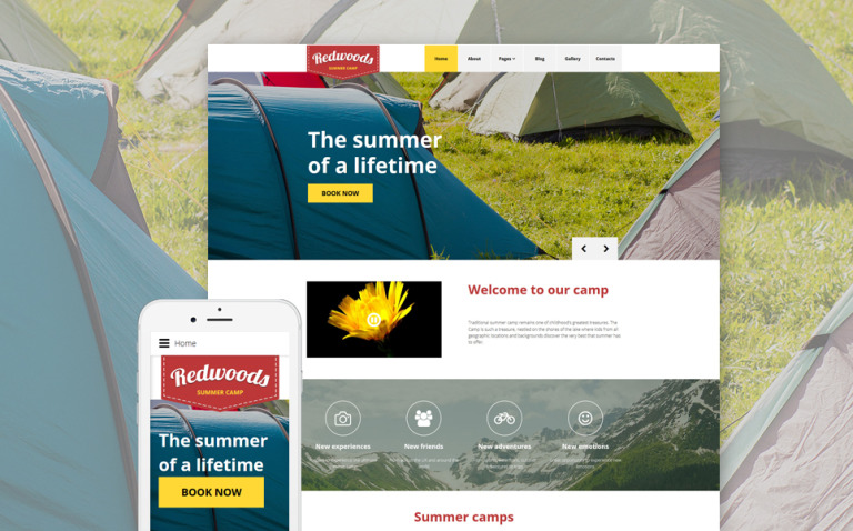 Redwoods Joomla Template New Screenshots BIG
