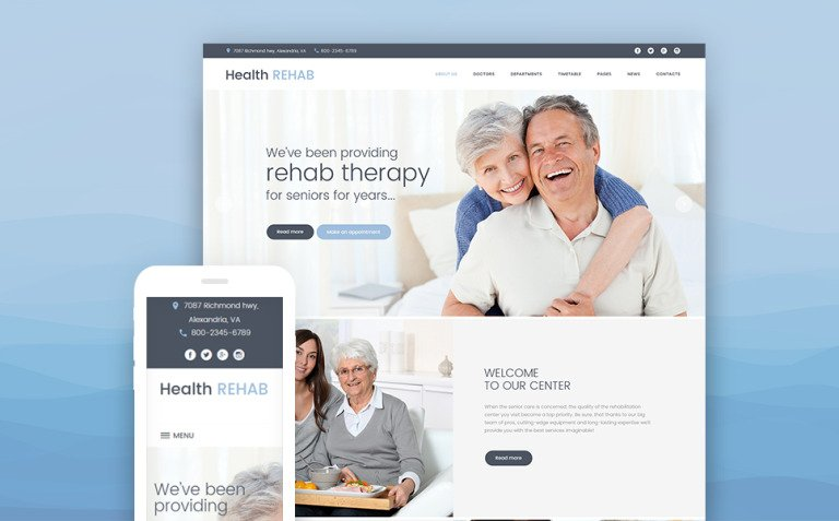 Rehabilitation Center WordPress Theme New Screenshots BIG