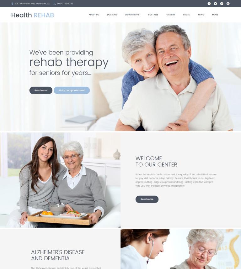 Rehabilitation Center WordPress Theme