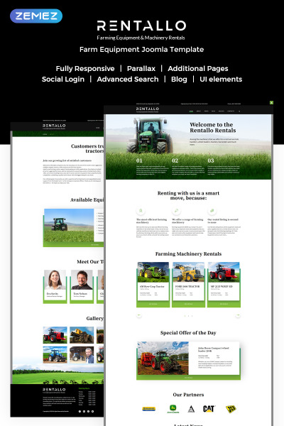 Farm Responsive Joomla шаблон
