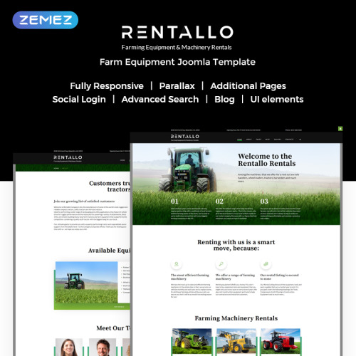Rentallo - Joomla! Template based on Bootstrap