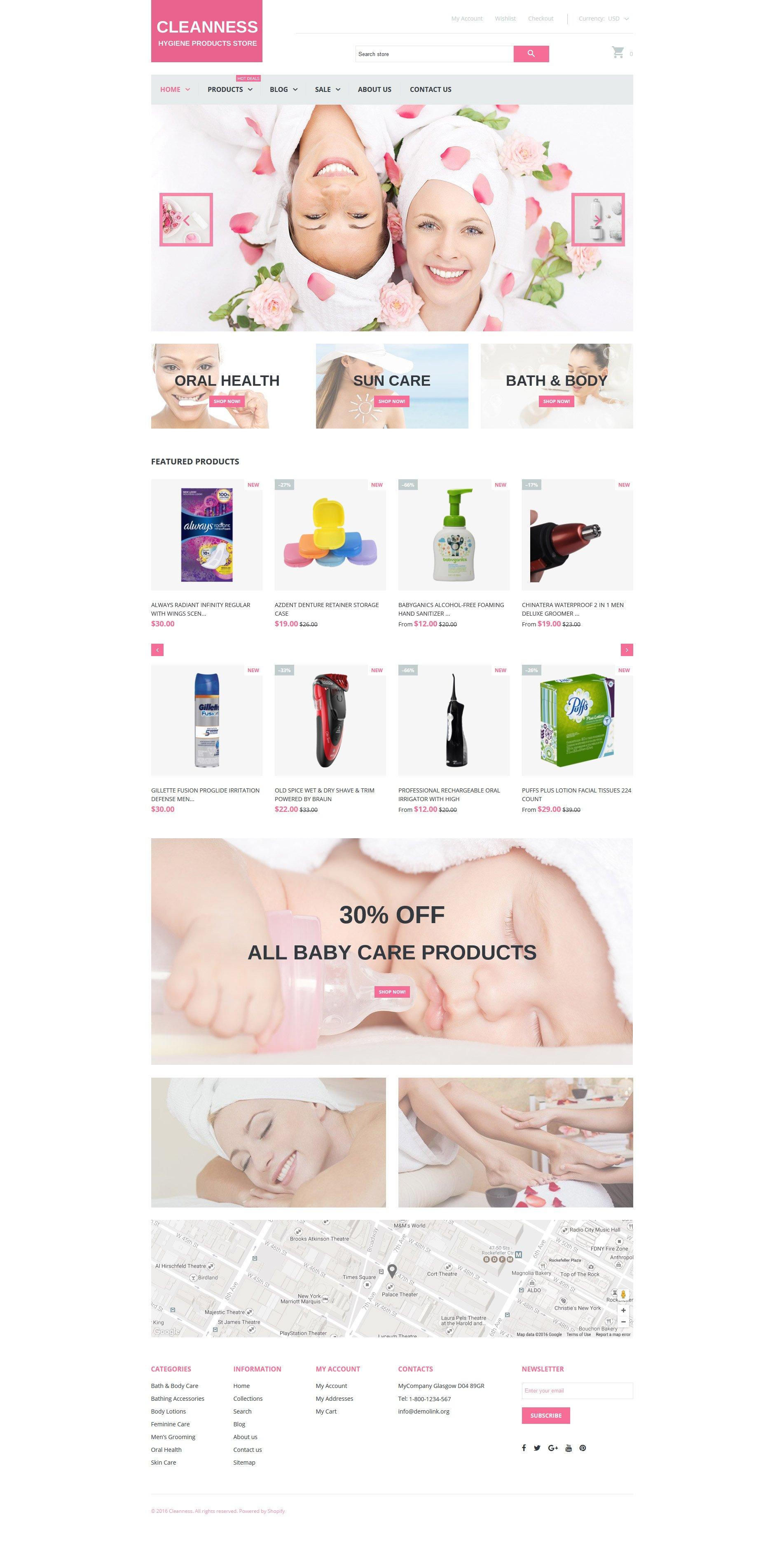 Responsive Shopify Thema over Spa Toebehoren №61207 - screenshot