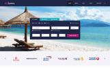 Responsive Website template over Vliegtickets