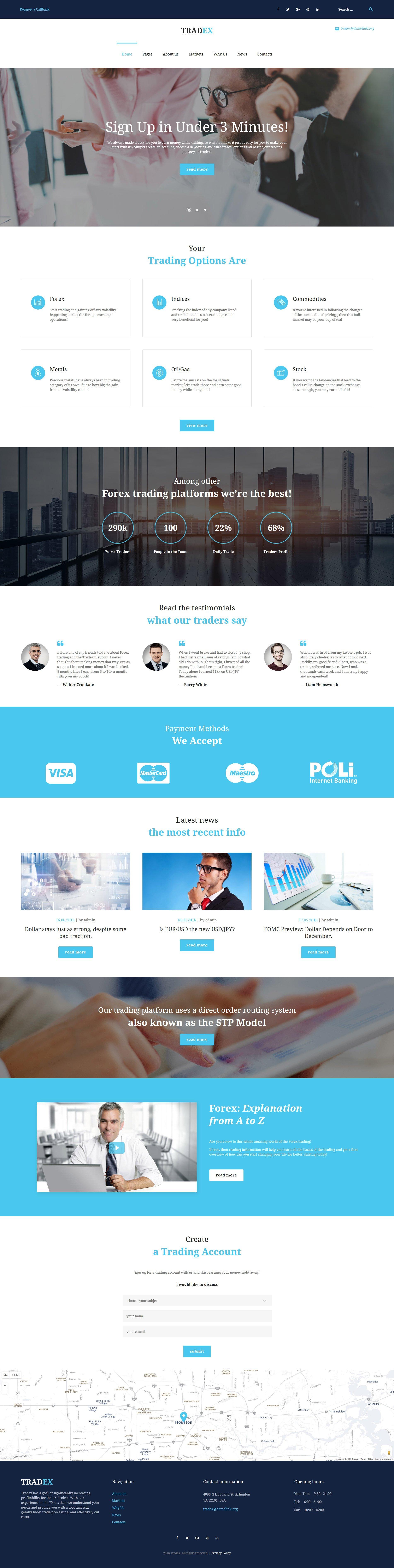 Responsivt Tradex - Forex Trading WordPress-tema #61298