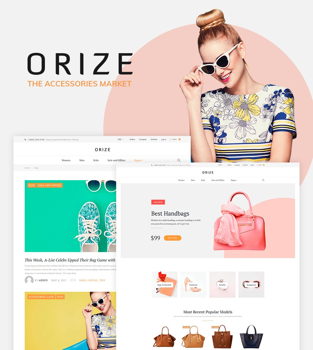 Responsywny motyw WooCommerce Orize - Accessories WooCommerce Theme #61249