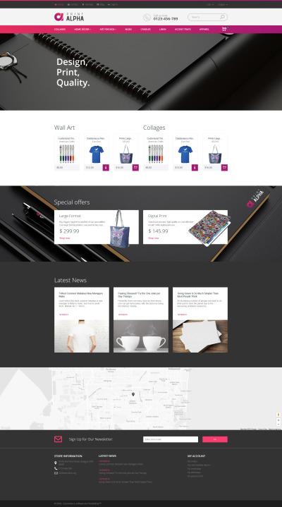 Responsywny szablon PrestaShop PrintAlpha - Design i dekor #61216 #61216