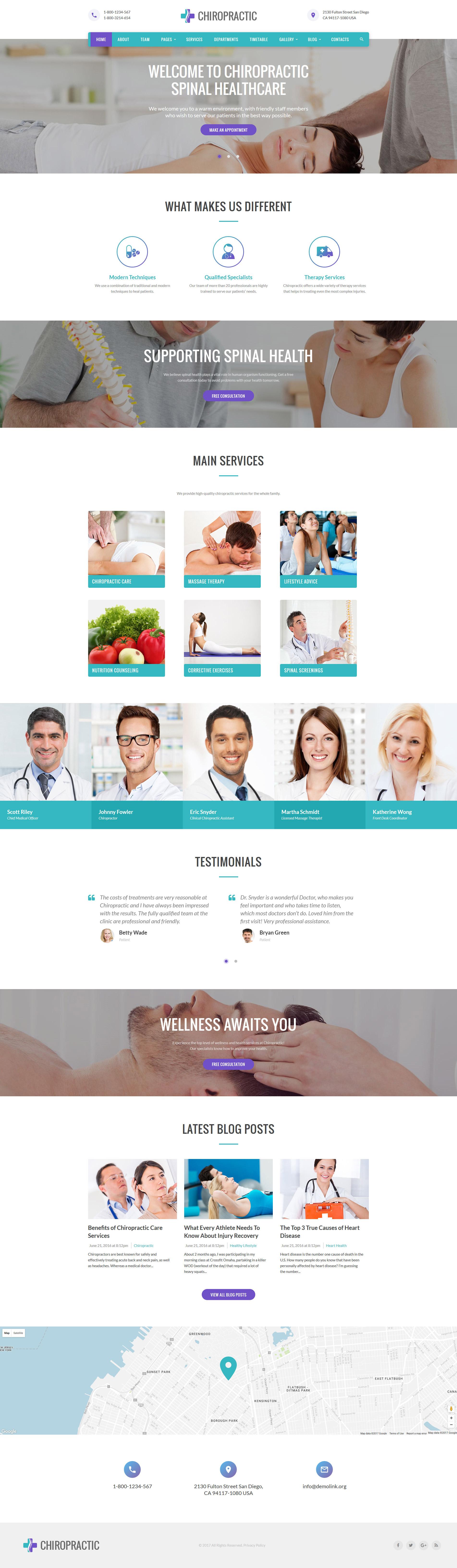 Responsywny szablon strony www Chiropractic - medycyna alternatywna #61218
