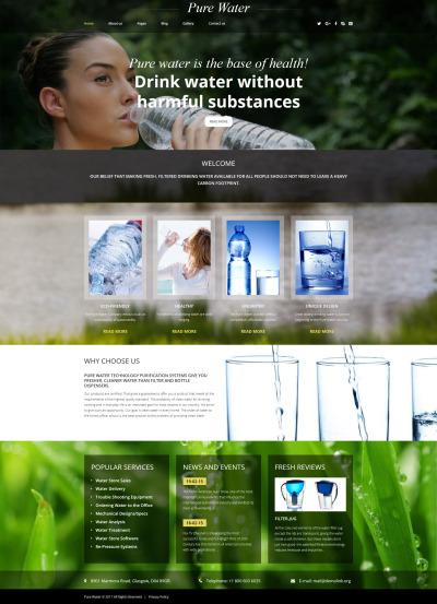 Water Responsive Joomla šablona
