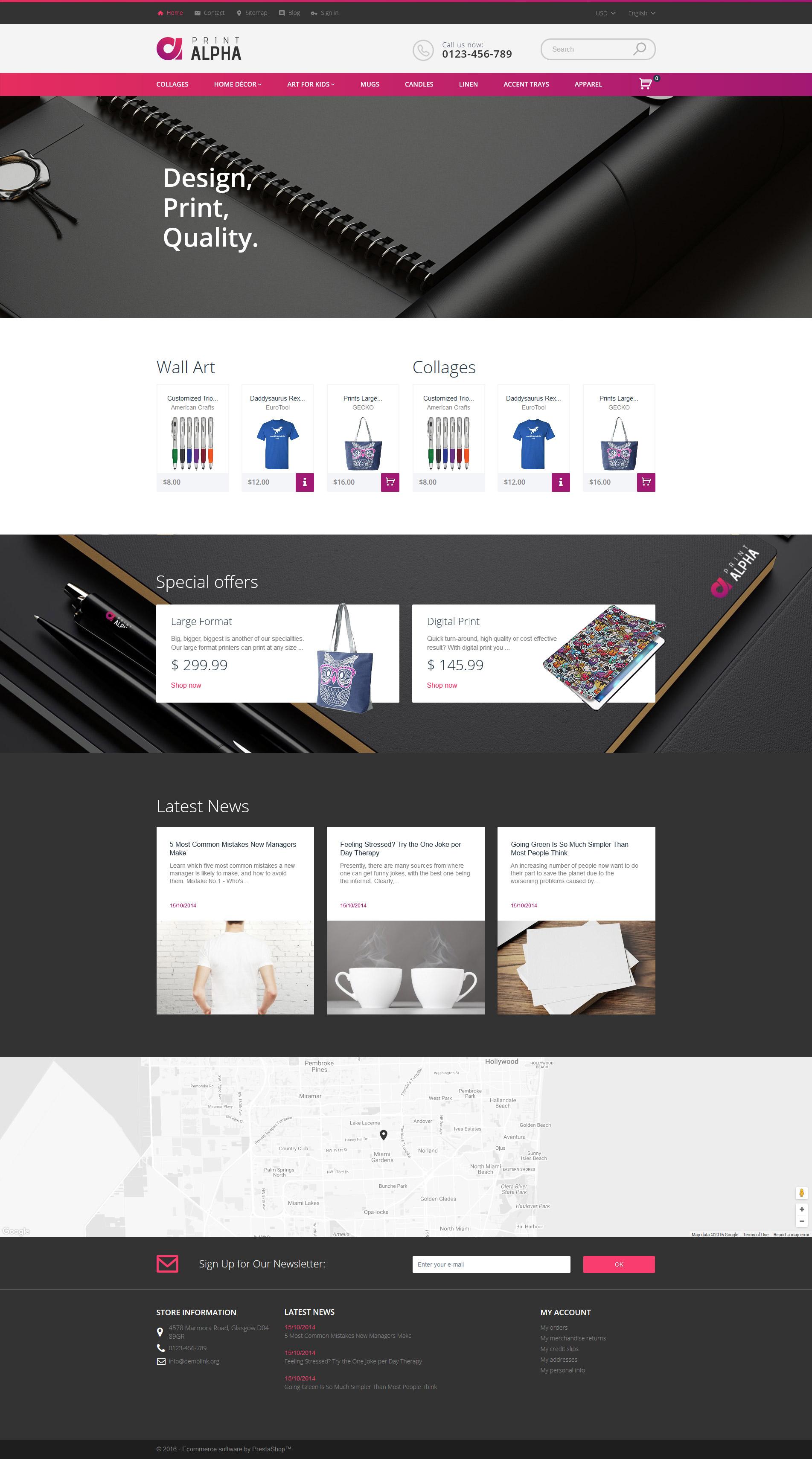 "Responzivní PrestaShop motiv ""PrintAlpha - Design & Decor"" #61216"