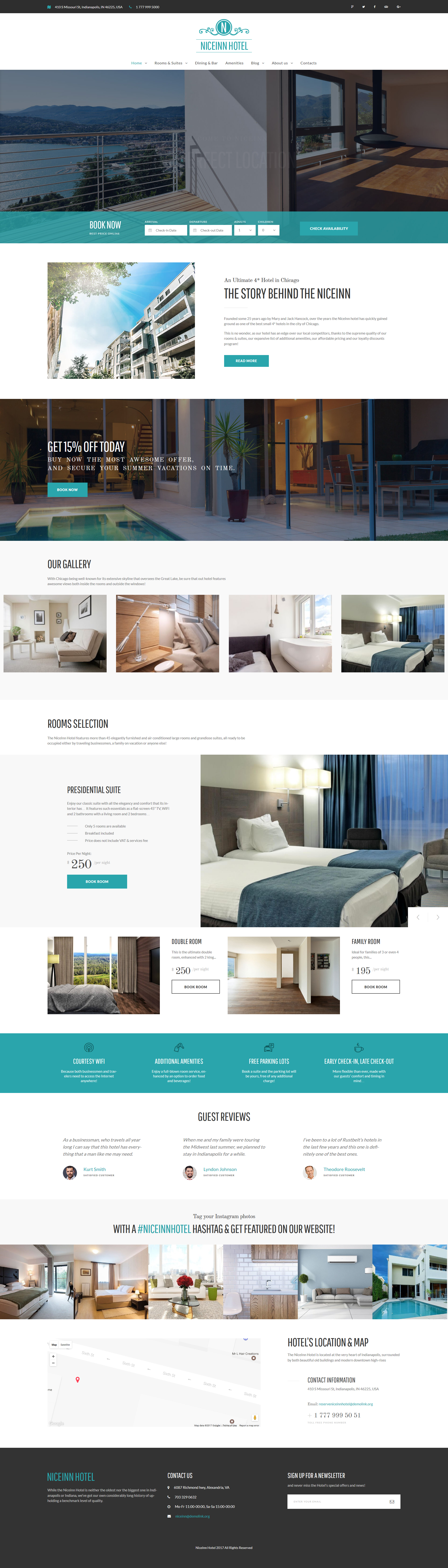 "Responzivní WordPress motiv ""NiceInn - Small Hotel Responsive"" #61237 - screenshot"