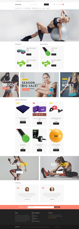 Reszponzív Athletic - Sports Store WooCommerce sablon 61271 - képernyőkép