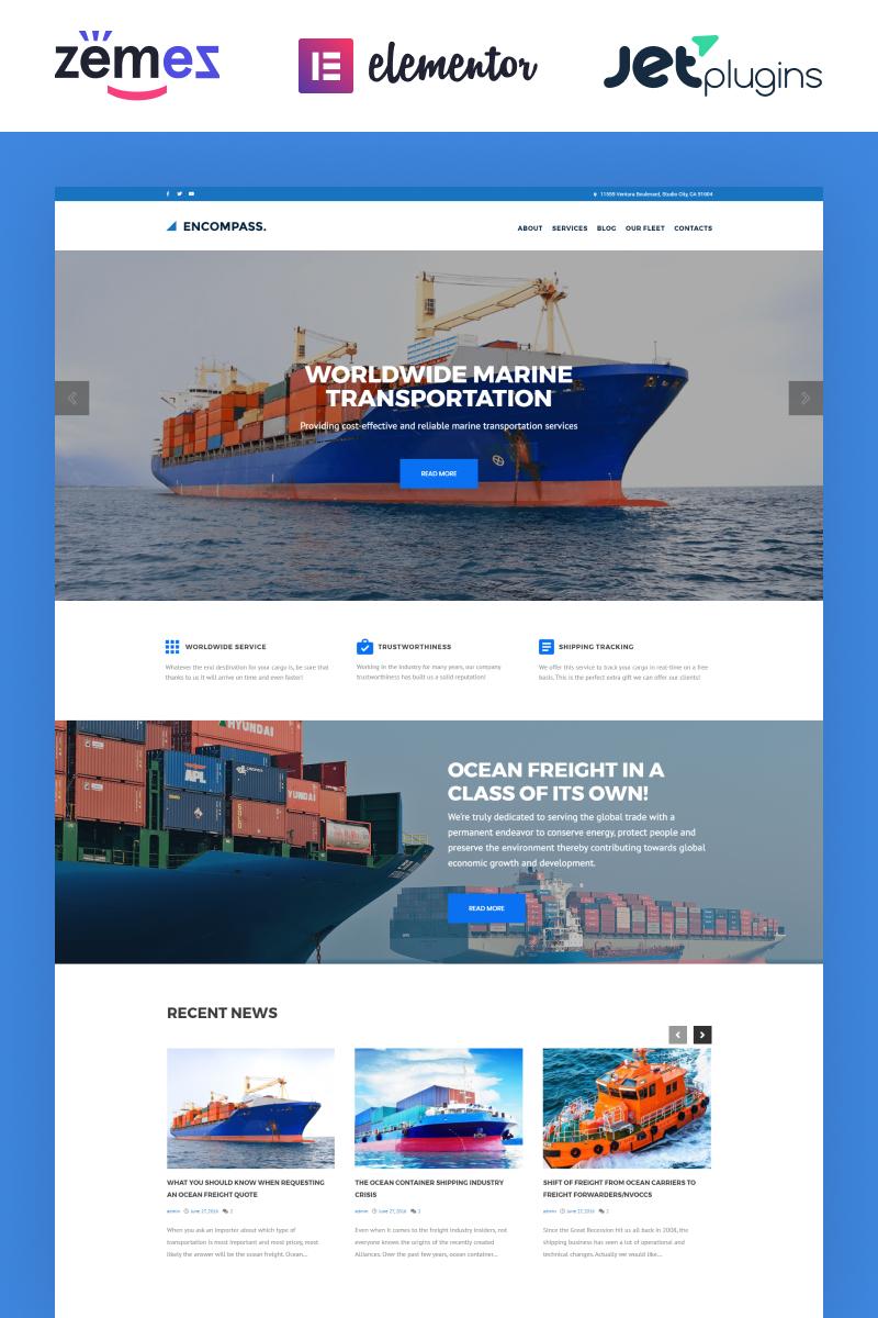 Reszponzív Encompass - Transportation Maritime WordPress sablon 61223 - képernyőkép