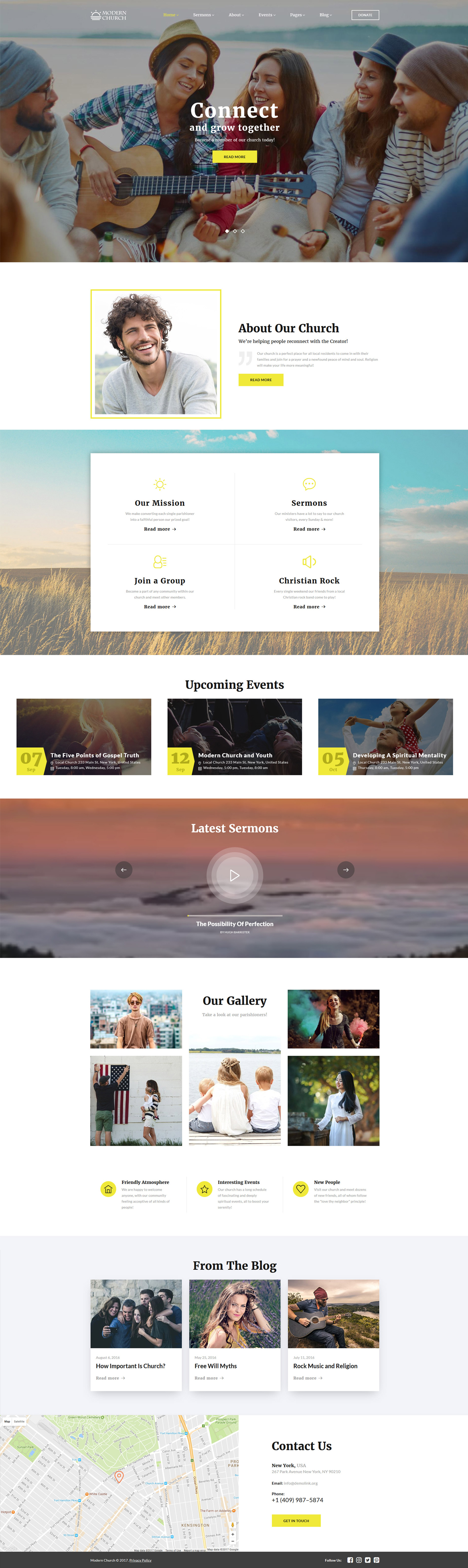 Reszponzív Modern Church - Multipage Religious Weboldal sablon 61214