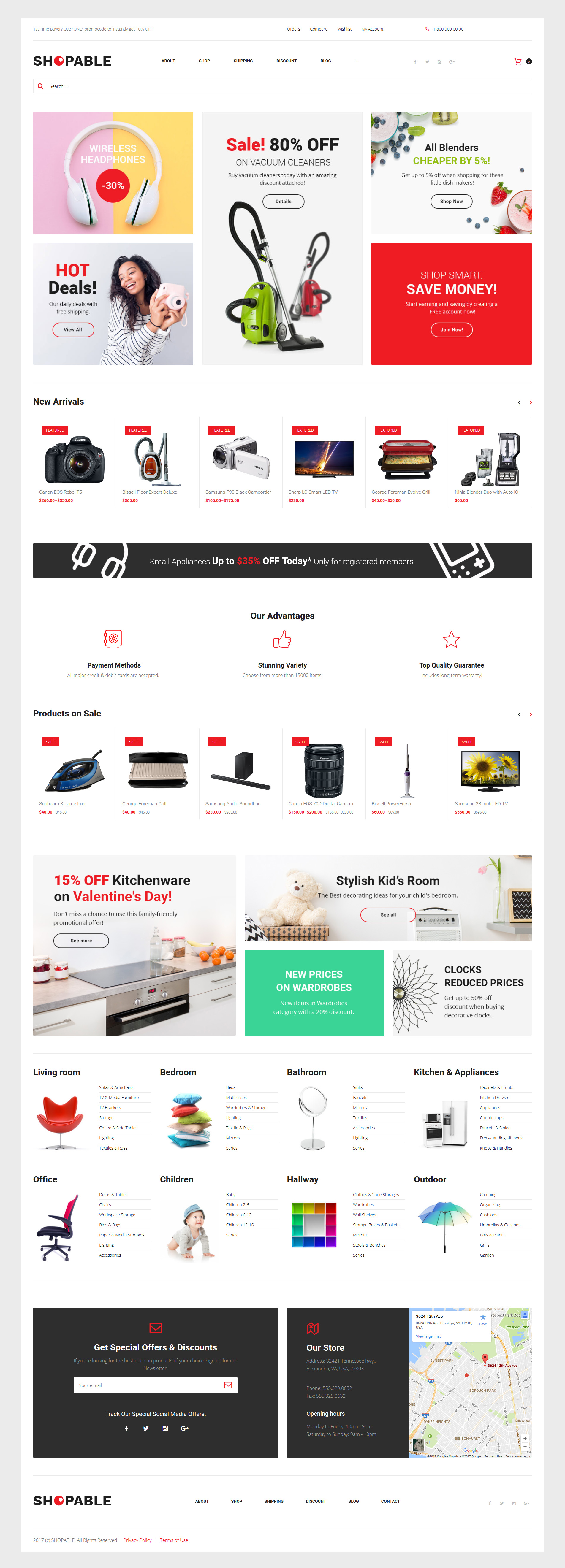 """""""Shopable - Multiconcept Store Responsive"""" Responsive WooCommerce Thema №61245 - screenshot"""