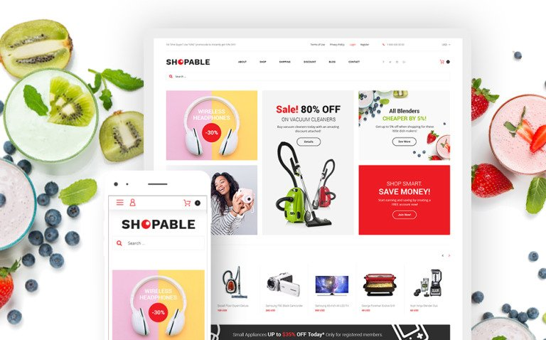 Shopable - Multiconcept Store Responsive WooCommerce Theme New Screenshots BIG