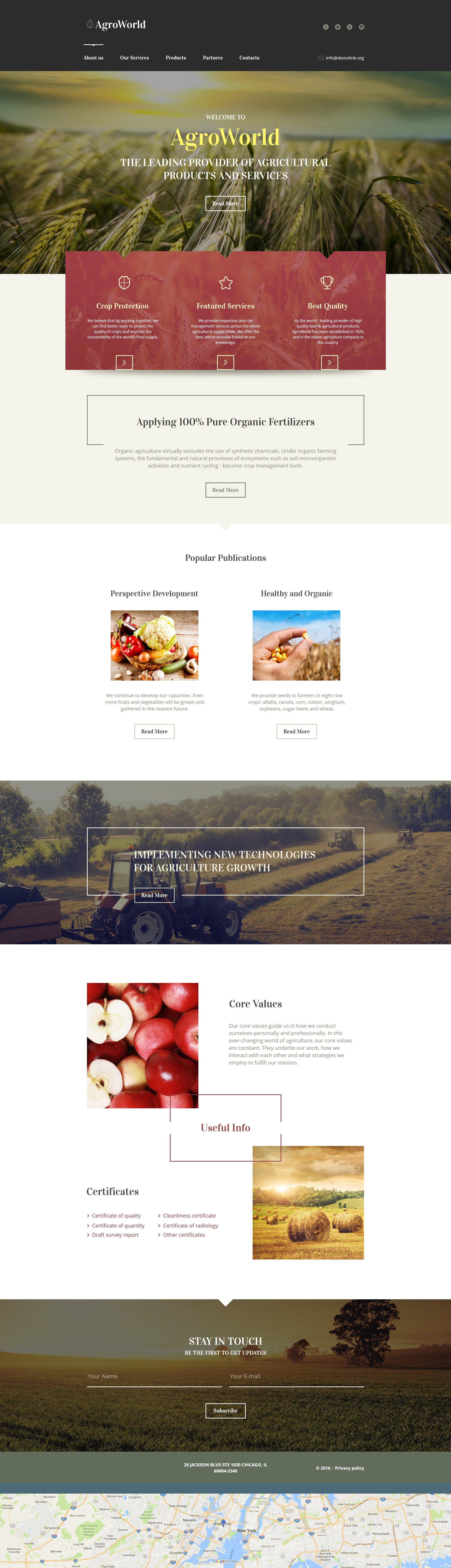 Сільське господарство Moto CMS HTML шаблон