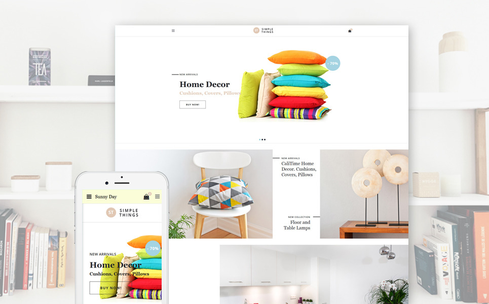 Simple Things - Home Decor OpenCart Template + RTL New Screenshots BIG