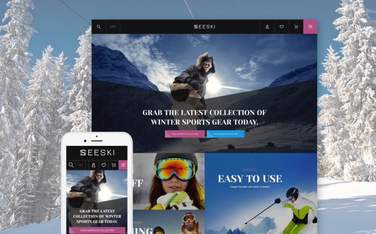 Skiing Responsive Shopify Theme New Screenshots BIG