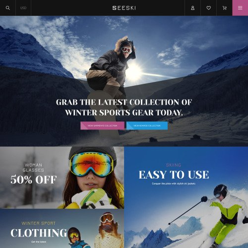 Seeski - Shopify Template based on Bootstrap