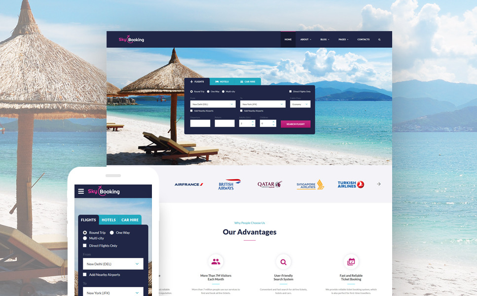travel-online-multipage-website-template