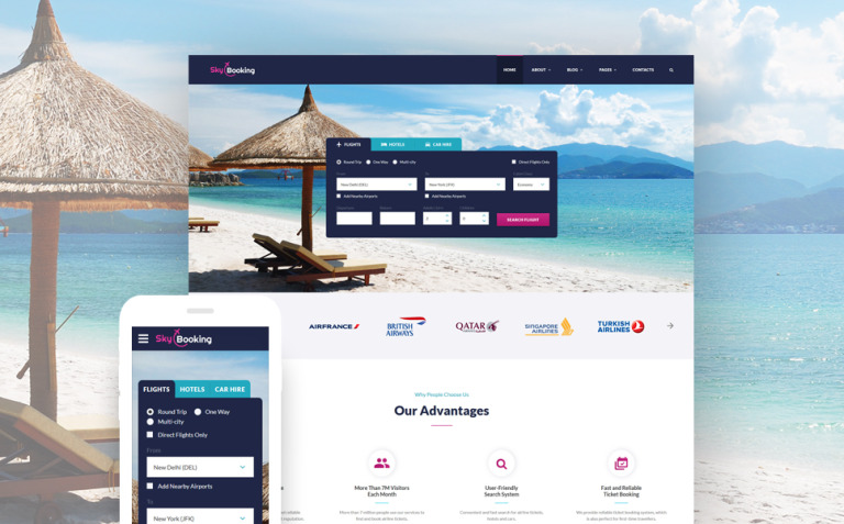 Sky Booking - Travel Online Multipage Website Template New Screenshots BIG