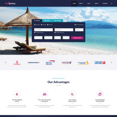 sky booking travel online multipage