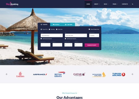 SkyBooking - Online Travel Agency Bootstrap