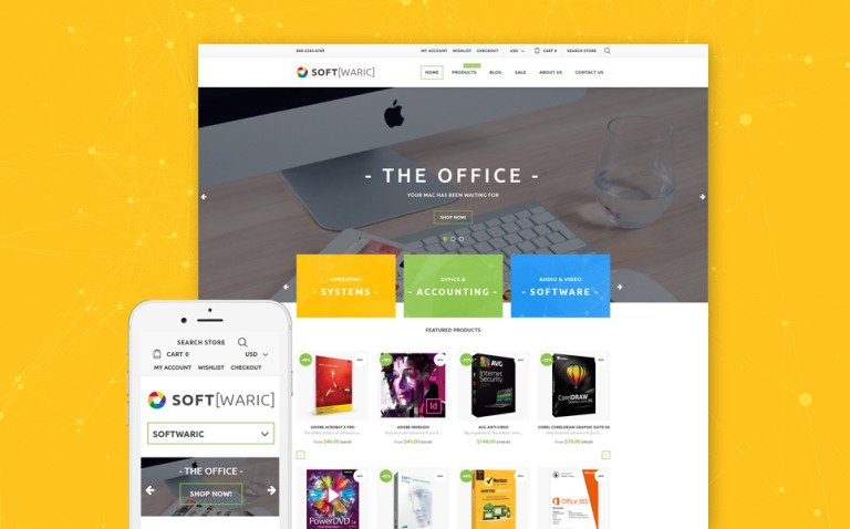 Software Store Responsive Shopify Theme New Screenshots BIG