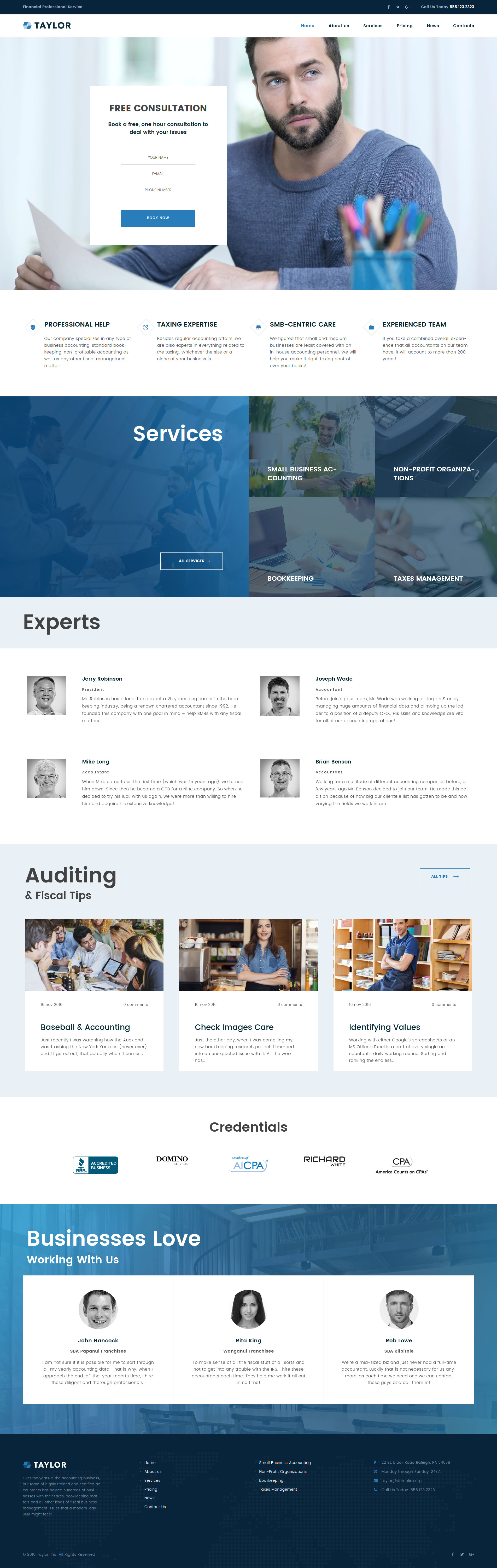 Taylor Financial Accounting Wordpress Theme