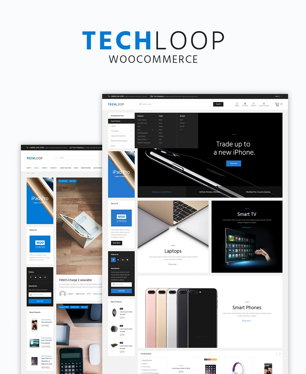 TechLoop - Electronics & Gadgets Store Responsive WordPress Theme WooCommerce Theme - screenshot