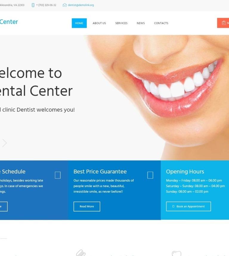 Tema de WordPress #61273 para Sitio de Odontología