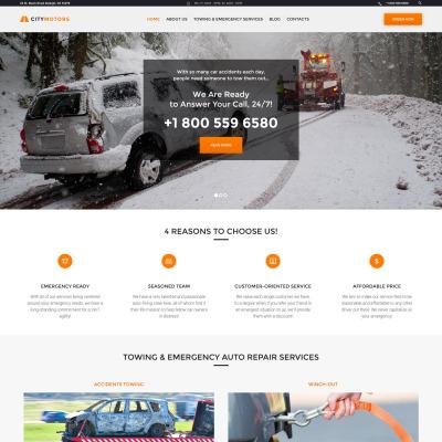Temas WordPress para Sitios de Coches y Motos | TemplateMonster