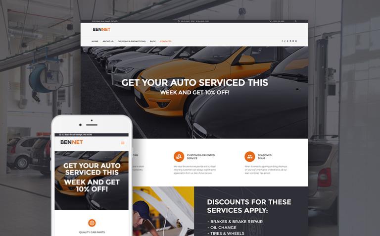 Tema de WordPress #61228 para Sitio de Reparación de coches