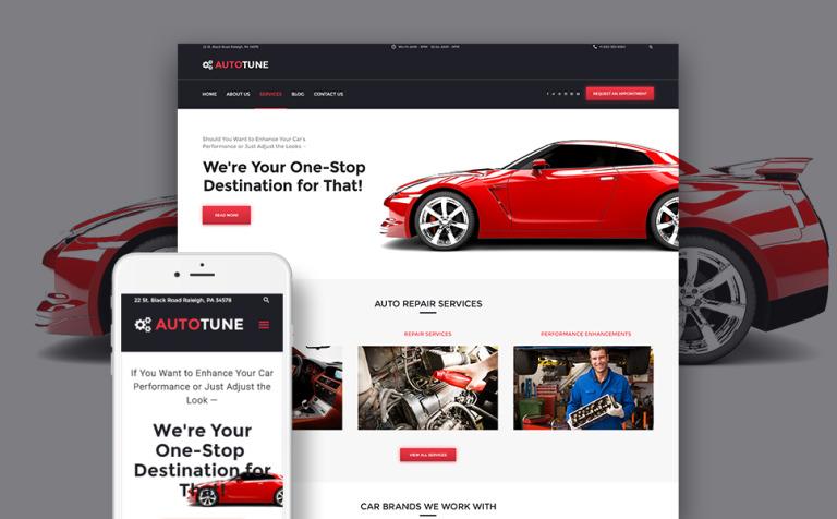 Tema de WordPress #61225 para Sitio de Tuning de coches