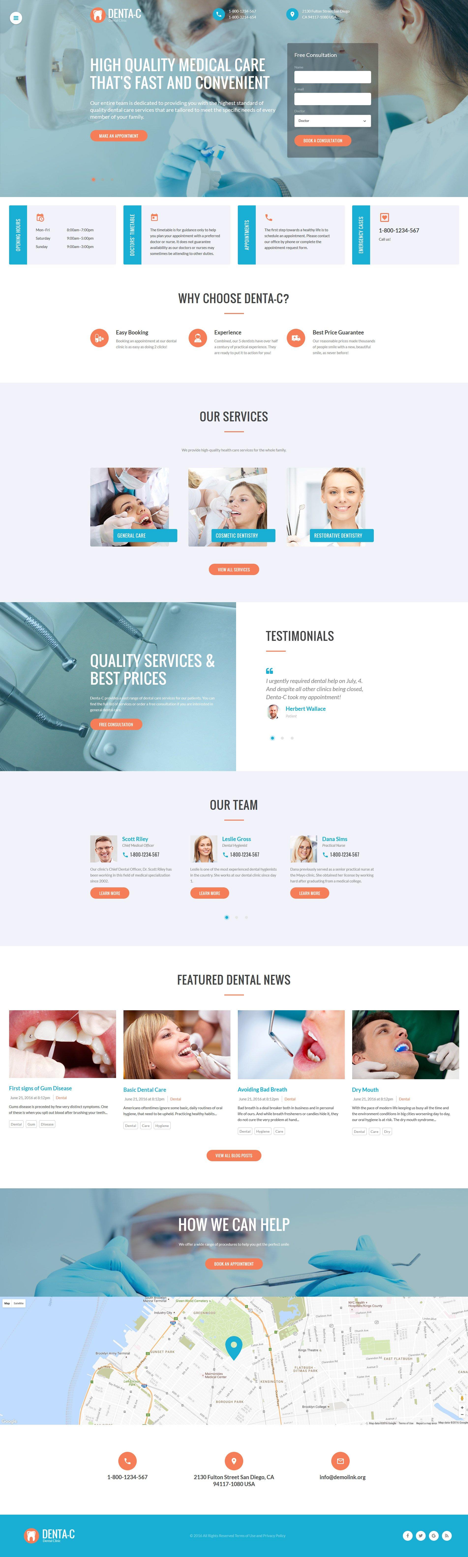 Template siti web per un sito di odontoiatria for Sito di design