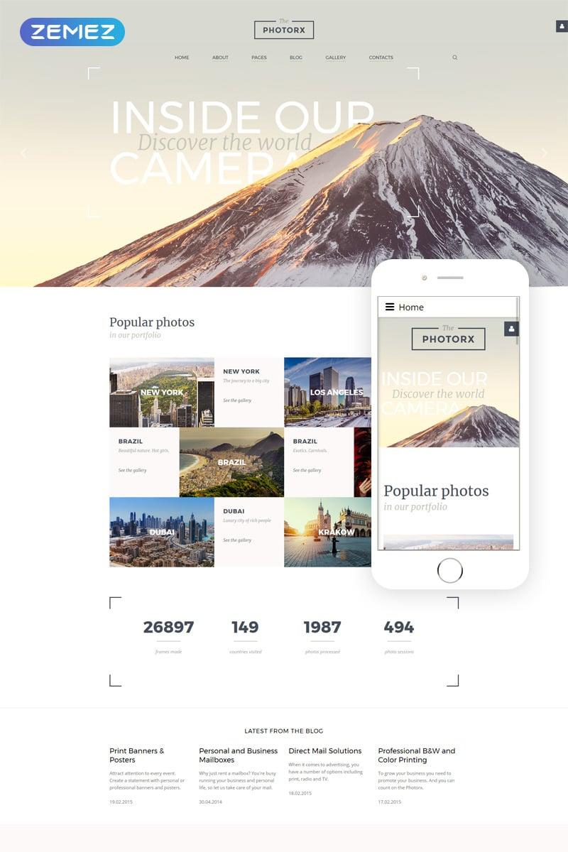 The Photorx - Photo Studio Responsive Joomla Template New Screenshots BIG