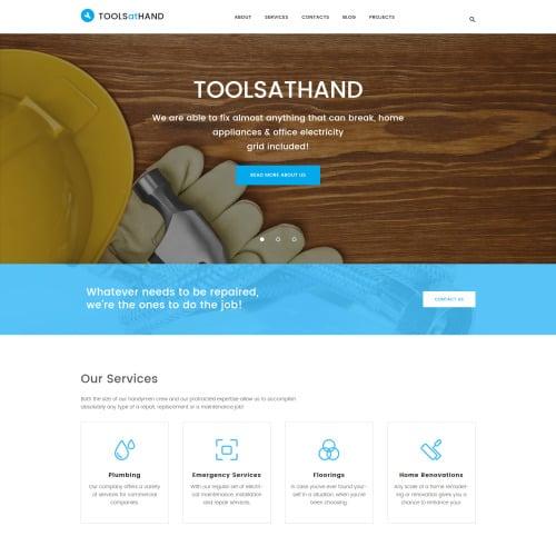 Tools At Hand  - Responsive WordPress Template