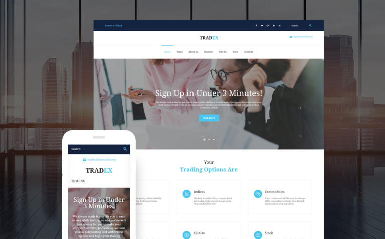 Tradex - Forex Trading WordPress Theme New Screenshots BIG