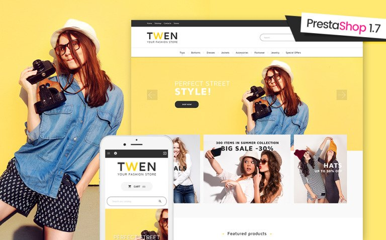 Twen - Fashion Store Responsive PrestaShop 1.7 theme Big Screenshot