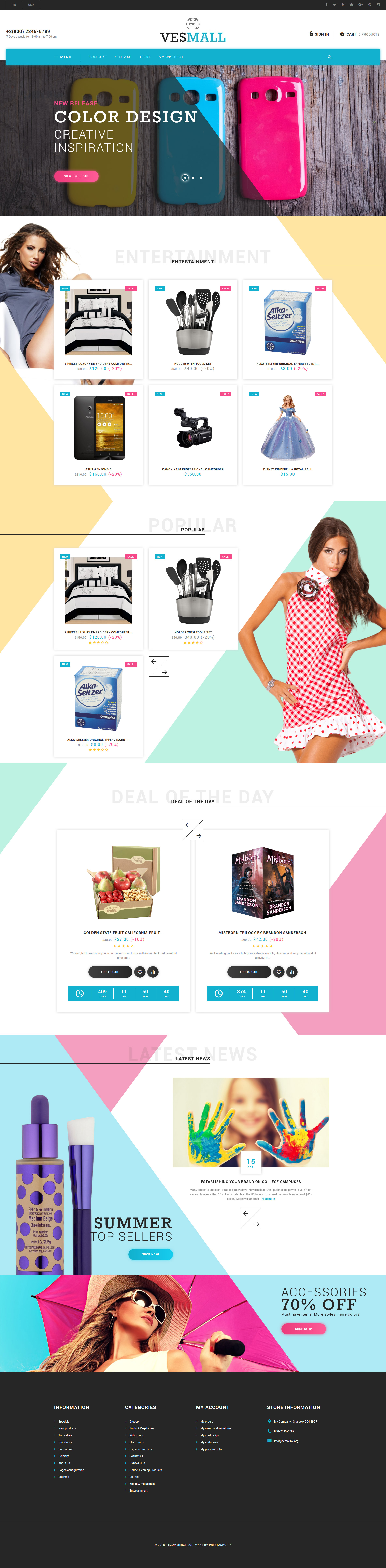 Vesmall - Wholesale store PrestaShop Theme