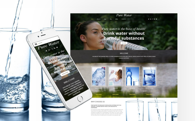 Water Responsive Joomla Template New Screenshots BIG