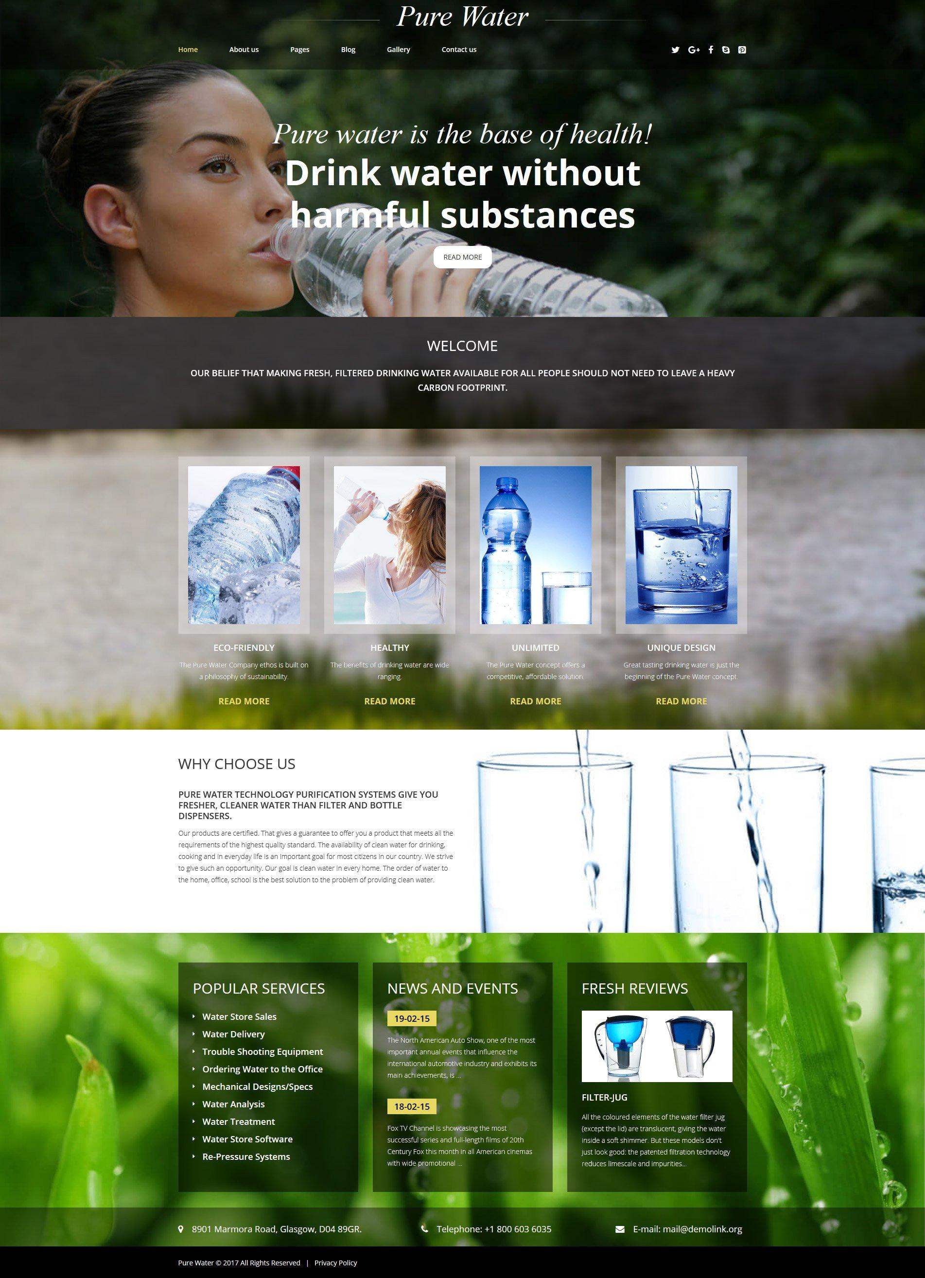 Water Responsive Joomla Template