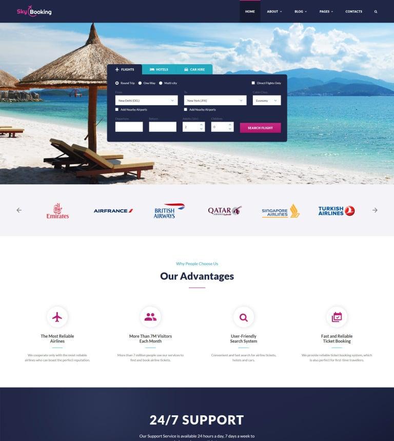 Website Vorlage #61270 für Reiseführer