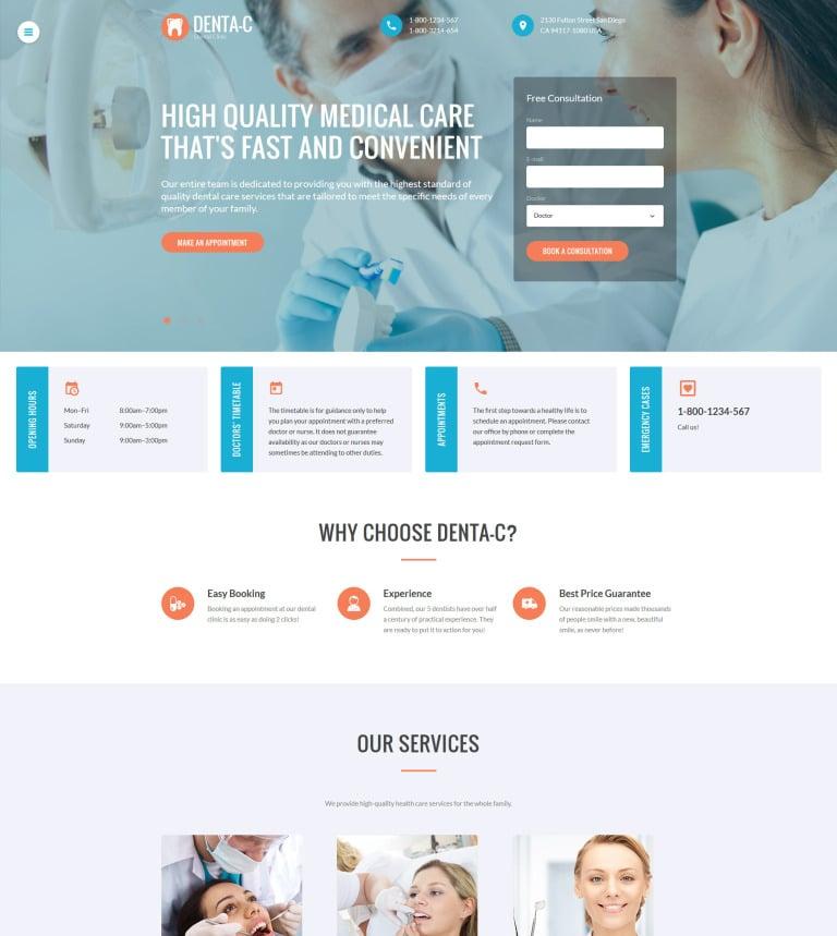 Website Vorlage #61219 für Zahnmedizin
