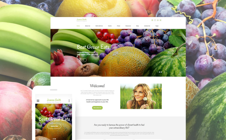 Weight Loss Responsive Website Template New Screenshots BIG
