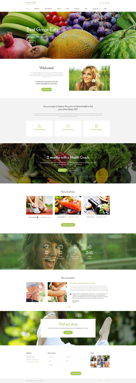 weight loss responsive website template 61252