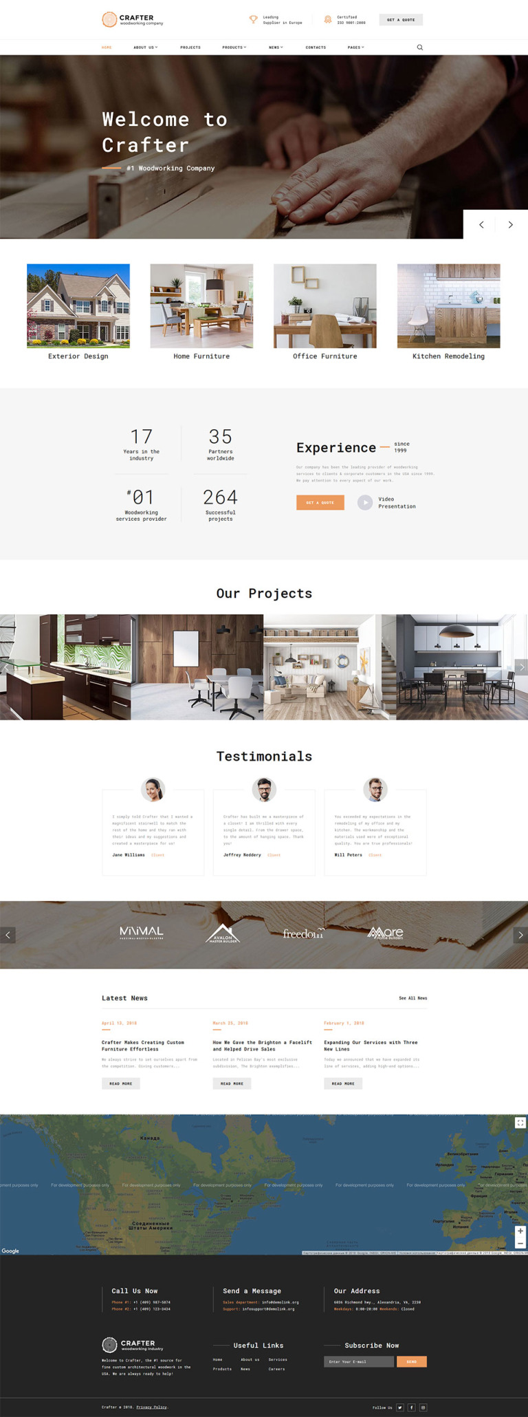 Woodworks - Carpentry Multipage Website Template New Screenshots BIG